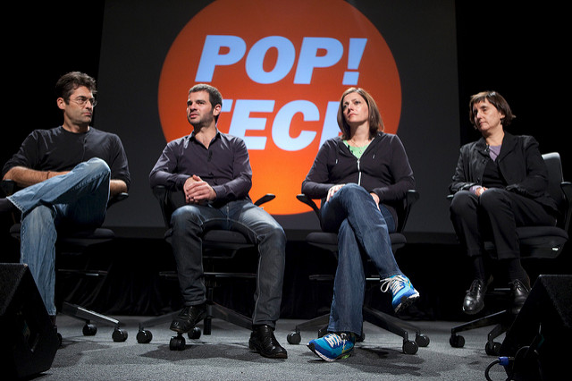 Laura Kurgan, Chris Jordan, Lorrie Vogel and Assaf Biderman - Pop!Tech 2009 - Camden, ME