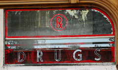 Red RX Drugs Sign