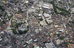 Uploaded 4567 pixels wide - Norwich City Centre aerial