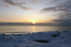 Sunset over Norton Sound, Nome
