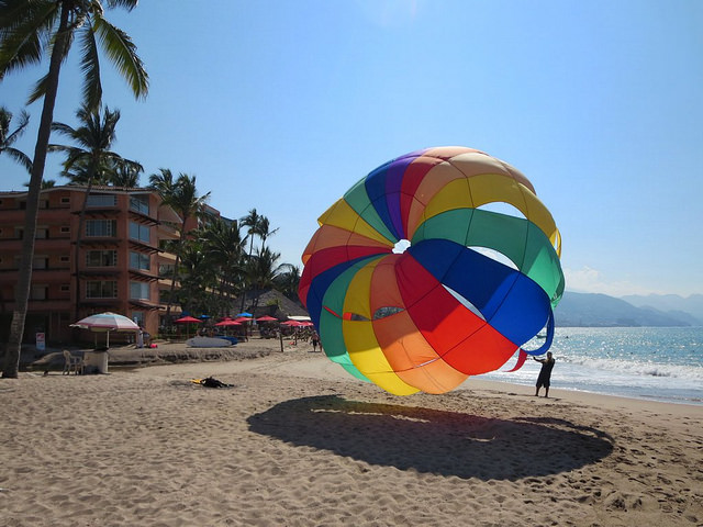 Parasailing at Puerto Vallarta