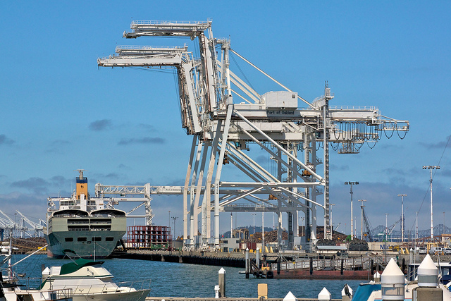 Container cranes - Port of Oakland