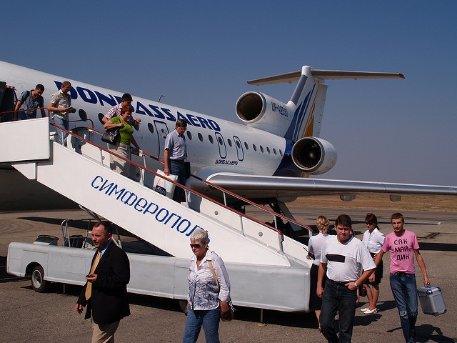 Ukraine, Simferopol Airport, arriving from Kiev
