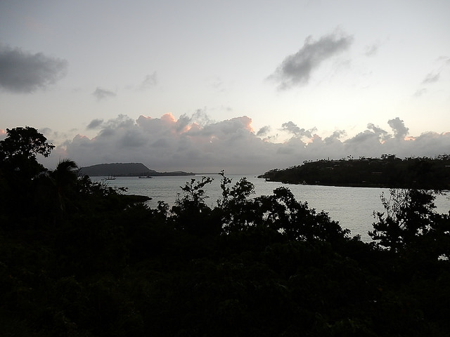 Dusk Descends on Port Vila