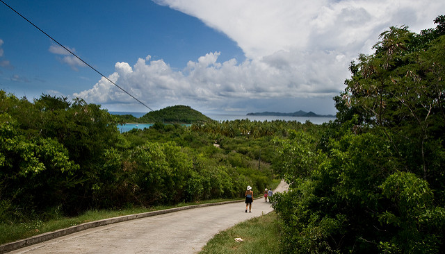 Walking Down the Hill to Saltwhistle Bay