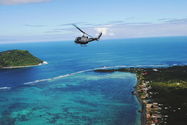 Aerial view, Tokelau, 2012. Photo: New Zealand Ministry of Foreign Affairs and Trade