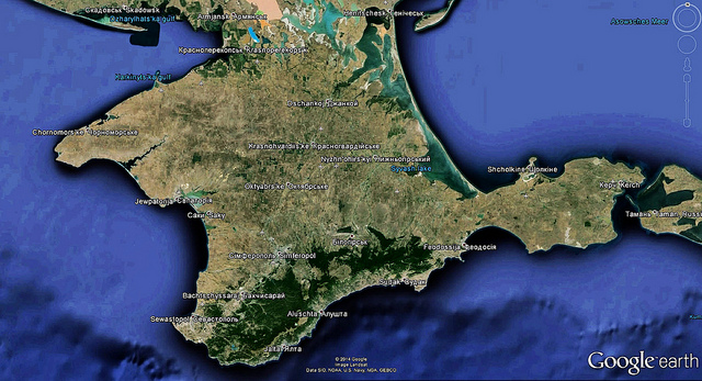 CRiMEA: Satellite image of the peninsula by Google Earth 2014