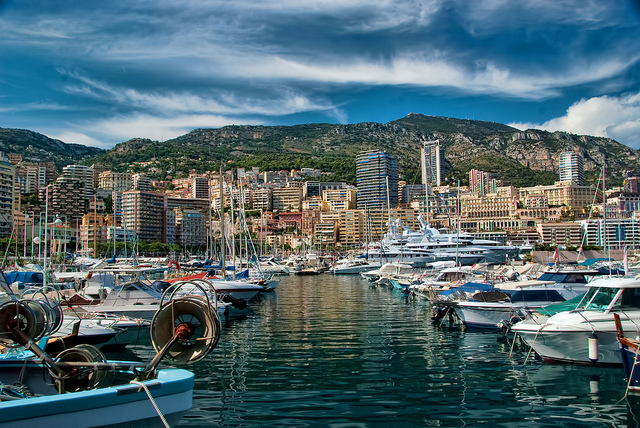 Avenue of Yachts in Monaco