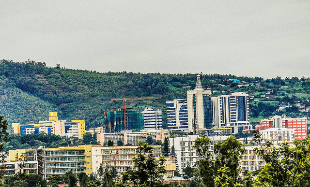 Kigali city on top of the Hill