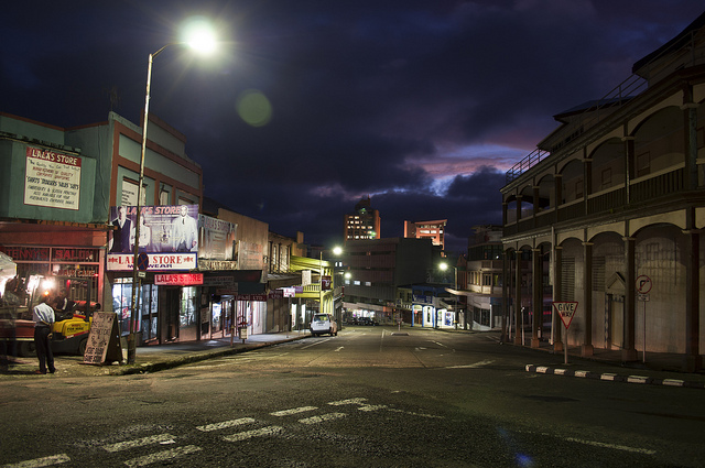 [suva street at night]