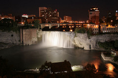Rochester NY High Falls @ Night 018
