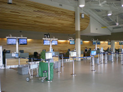 Yellowknife Airport checkin counters