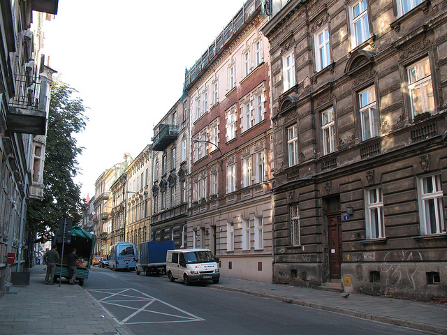 A street of Krakow, Poland