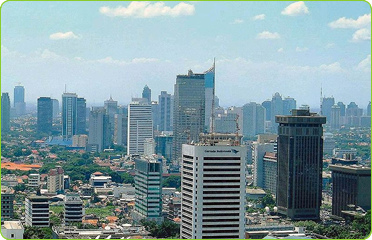 A view of Jakarta, Indonesia