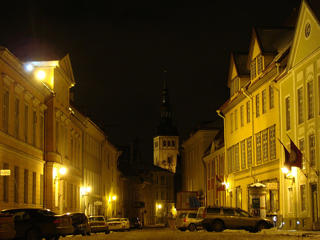 Night in Old Tallinn