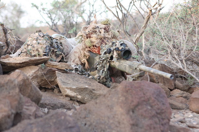 Sniper High Desert Stocking Training in Djibouti