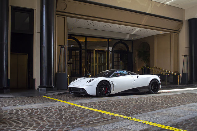 White Pagani Huayra from Saudi Arabia